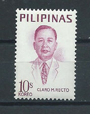 PHILIPPINES ,1969 , CLARO M. RECTO , STAMP  PERF,  MNH