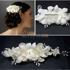 Bridal Hair Accessories Flowers Tiara Bridal Wedding Prom Crown Floral Headdress