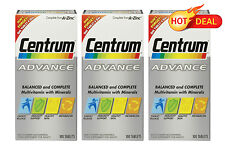 Centrum Advance 3x 100 Tablets LONG DATE 2017 FACTORY SEALED PACKAGING