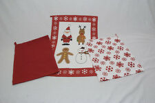 Set Of 3  Christmas Cotton Kitchen Cleaning Tea Towels Dish Drying Cloth