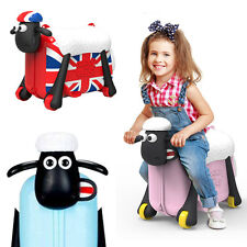 Shaun the sheep kids luggage& sholderbag Ride on Suitcase affordable up to 50kg