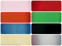 """4"""" 100mm wide Top Quality Grosgrain Ribbon Sold By the metre Choice of 8 Colours"""