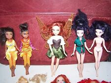 DISNEY TINKERBELL WINX FAIRYTOPIA & MATTEL FAIRY DOLLS Lot Mixed