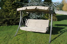 Chatsworth Luxury Heavy Duty Garden 3 Seater Swing Seat with Thick Cushion