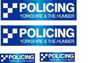 4 X  YORKSHIRE & HUMBER POLICE WATERSLIDE DECAL IDEAL FOR CODE 3 MODELS