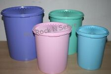 Tupperware Vintage Style  Servalier One Touch Canister Set 4 New!!!