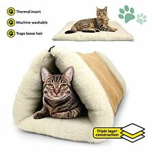Self riscaldata IGLOO letto per Animale Domestico Gatto/Gattino Cane/Cucciolo Peluche Grotta/House/mat/Aderente