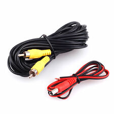Rever Rear View Parking Camera RCA Video AV Cable W/ Detection Wire Kit