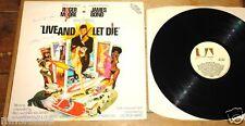 GEORGE MARTIN SIGNED JAMES BOND LIVE AND LET LP BEATLES UACC REGISTERED DEALER