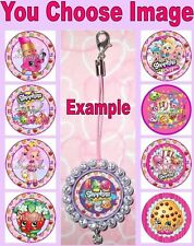 SHOPKINS Mobile Cell Phone Strap Zipper Pull Pendant Charm Shoppies Food Girls
