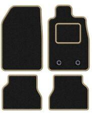SEAT TOLEDO 1999-2005 TAILORED BLACK CAR MATS WITH BEIGE TRIM