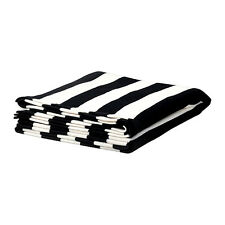 Eivor Black White/cream Striped Throw Blanket 170x125cms NEW