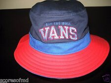 Vans Shoes Off The Wall Undertone Bucket Cap Red Blue Small Medium Free Ship NWT