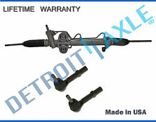 Hydraulic Power Steering Rack & Pinion + 2 Outer Tie Rod for Chevy GMC Cadillac