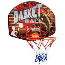 MONTABILE A PARETE DA BASKET SHOT TABELLONE CANESTRO RETE & PALLA SET INDOOR