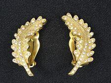 VINTAGE 80's JEWELED AURORA BOREALIS STONE BELLINI EARRINGS