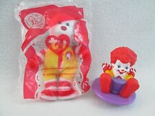 Ronald McDonald Happy Meal Toys TY Bear Plush Spin Top