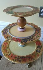 RARE VINTAGE Mackenzie Childs 3 Tiered Stand BEAUTIFUL