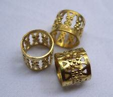 Tube Beads Spacer Raw Brass Filigree Findings bf099 (20pcs)