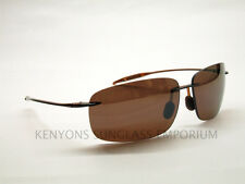 MAUI JIM BREAKWALL SUNGLASSES H422-26 SHINY ROOTBEER/HCL BRONZE POLARIZED LENSES
