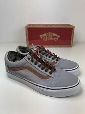 BNIB AUTHENTIC VANS OLD SKOOL GREY TAN BROWN SKATE SHOES TRAINERS UK 4