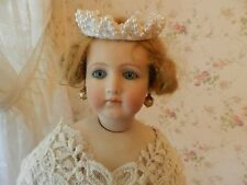 Antique Doll Jewelry ~ Faux Crown Pearl Drops ~ Earrings for Jumeau Bru, French,
