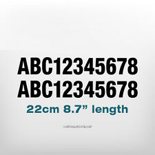 2x 220x30mm Custom número texto Impermeable Barco, Lancha, buceo, Craft Decal Sticker
