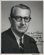 GEORGE M. LEADER - INSCRIBED PHOTOGRAPH SIGNED 03/30/1971