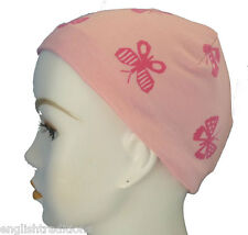 Butterfly Chemo Cancer Hair Loss Hat Sleep Cap Soft 100% Cotton Scarf CPAP Liner