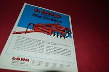 Long Tractor 1080 Offset Disc Harrow Dealer's Brochure YABE8