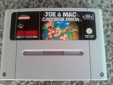 JOE & MAC CAVEMAN NINJA SNES PAL  SUPER NINTENDO solo cartucho 100% ORIGINAL