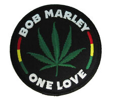 BOB MARLEY - Round Leaf Patch Woven - NEW