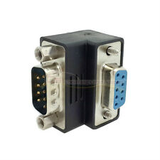 DB9pin To DB9 RS232 Male to Female extension Cable adapter Right Angled 90Degree