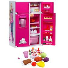 LEXIBOOK BARBIE PINK KITCHEN FUN FOOD FRIDGE GIRLS TOY ROLE PLAY PRETEND PLAYSET