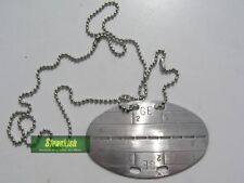 GERMAN BUNDESWEHR ARMY STYLE DOG TAG / NAME TAG & CHAIN