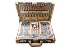 ROYAL LINE 72pc Stainless Steel/GOLD Cutlery Set in BEAUTIFUL PRESENTATION CASE