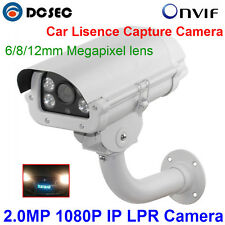 2MP Car License Plate Capture Recognition 1080P LPR IP Camera 6/8/12MM 3.0MP len