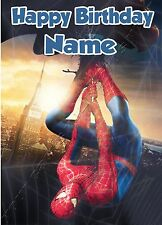 - SPIDERMAN - IDEAL FOR SON NEPHEW FRIEND PERSONALISED CHILDREN'S BIRTHDAY CARD