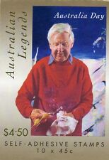 1999 STAMP BOOKLET AUSTRALIAN LEGENDS - ARTHUR BOYD 10 x 45c STAMPS MUH