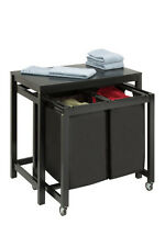 Double Sorter Folding Table by Honey-Can-Do - SRT03571 - Hamper - Laundry Sorter