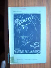 REBECCA; A Play in Three Acts   1939.[French's Acting Edition].Antiquarian