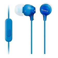 Genuine Sony MDR-EX15AP In-Ear Earphones Headphones with Mic and Control - Blue
