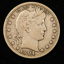 1904-O BARBER QUARTER DOLLAR        1