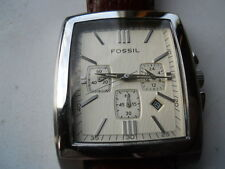 Fossil men's chronograph brown leather band Analog watch.Fs-4331