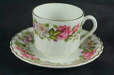 Old marked porcelain cup saucer, English Old Foley, Harmony Rose [Y7-W6-A8-E8]