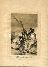 GOYA «Muchachos al avío» Grabado (engraving) original nº 11 Caprichos (Caprices)