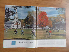 1959 Photo Article Ad Early Autumn Norwich Vermont Population 1532