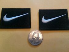 "2 - NIKE PATCH LOT  Logo PATCH embroidered iron on Patches   patch 2"" x 1.5 Nice"