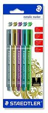 Staedtler Metallic Marker Pens _ Set of 5 Stunning Metallic Shimmer Colours