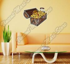 "Treasure Gold Gem Pirate Money Gift Wall Sticker Room Interior Decor 25""X20"""